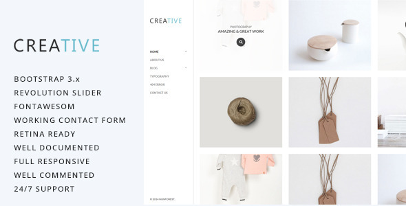 Creative – Photography HTML5 Template