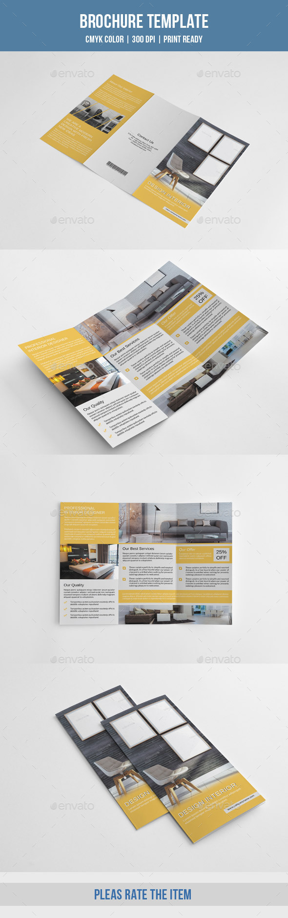 Minimal Interior Trifold-V219 - Corporate Brochures