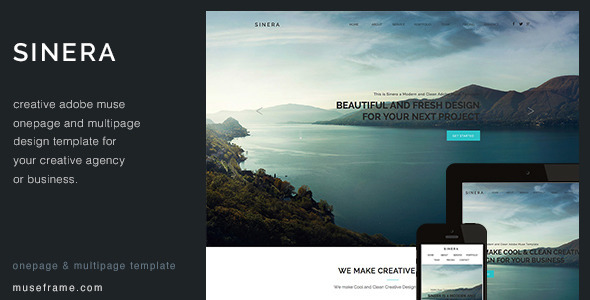 Sinera Creative Muse Template By Pixasquare Themeforest