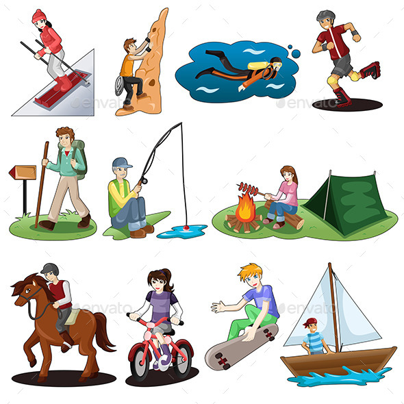 Active People Doing Outdoor Activities - Sports/Activity Conceptual