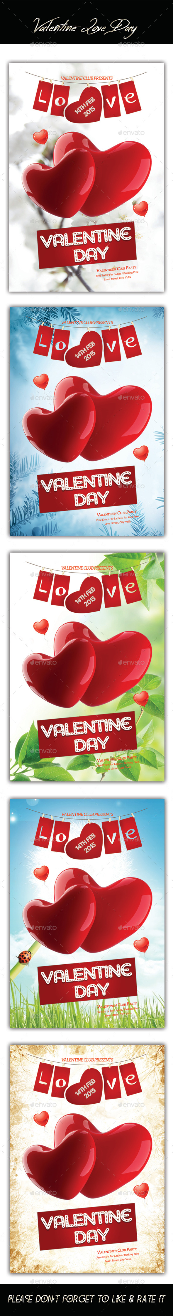 Valentines Love Day Flyer - Flyers Print Templates