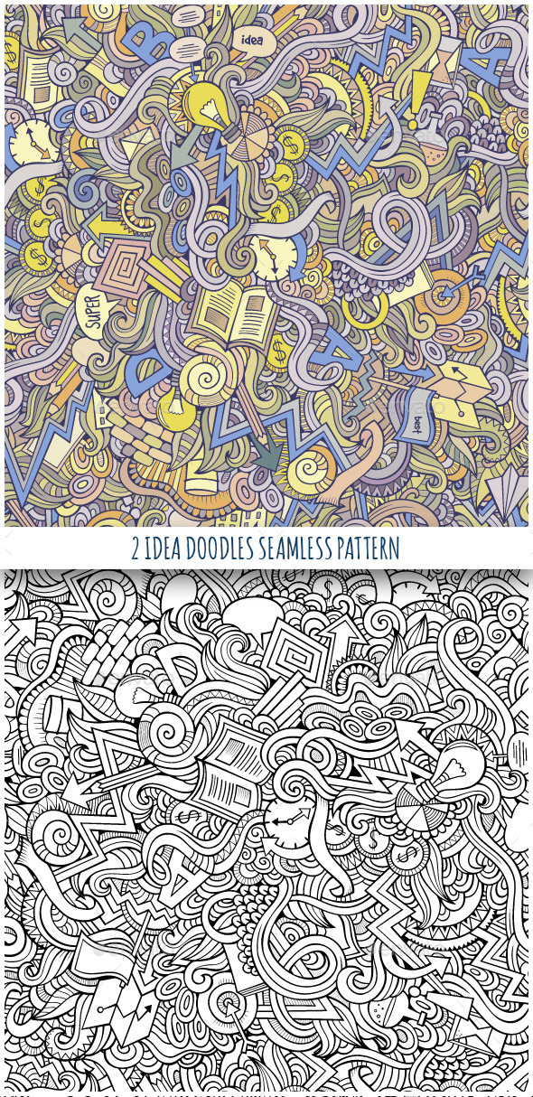 2 Idea Doodles Seamless Pattern - Concepts Business
