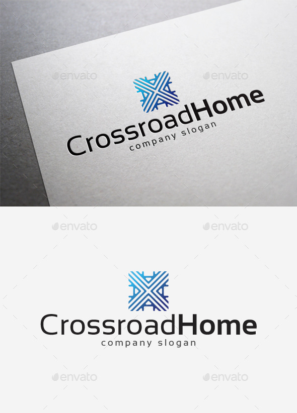 Crossroad Home Logo - Abstract Logo Templates
