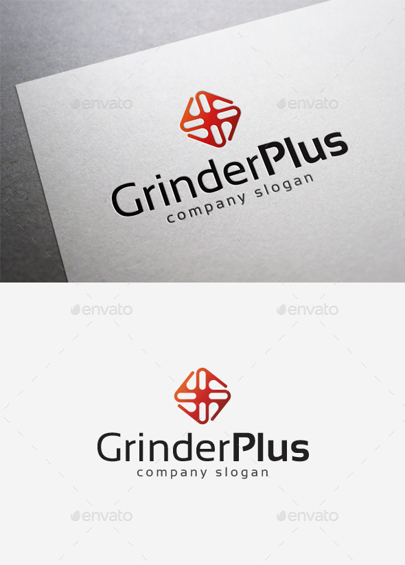 Grinder Plus Logo - Abstract Logo Templates