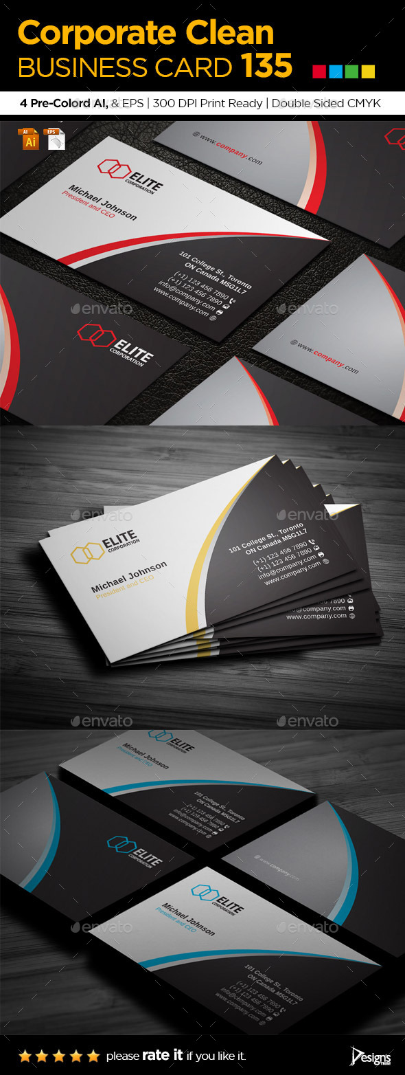 Business Card 135 - Business Cards Print Templates