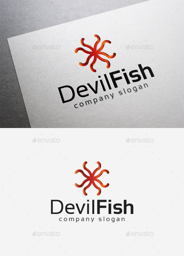 Devilfish Logo - Abstract Logo Templates