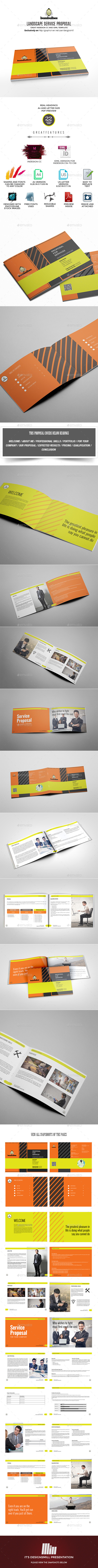 Landscape Service Proposal Template - Proposals & Invoices Stationery