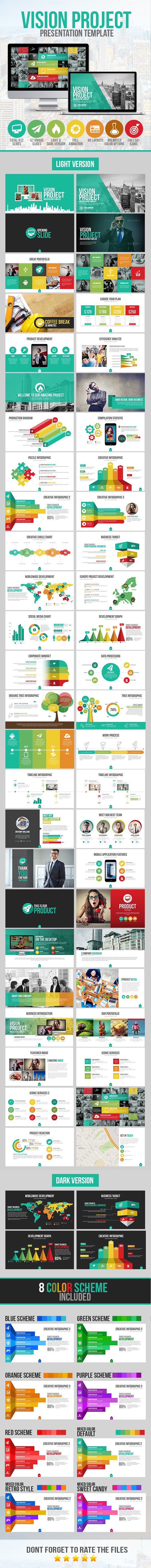 Vision Project Presentation Template - Business PowerPoint Templates