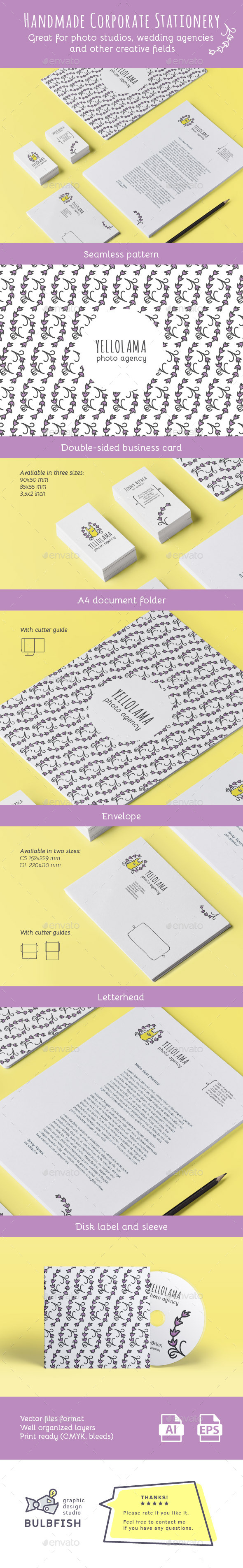 Handmade Corporate Stationery - Stationery Print Templates
