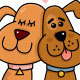 Dogs Couple in Love - GraphicRiver Item for Sale
