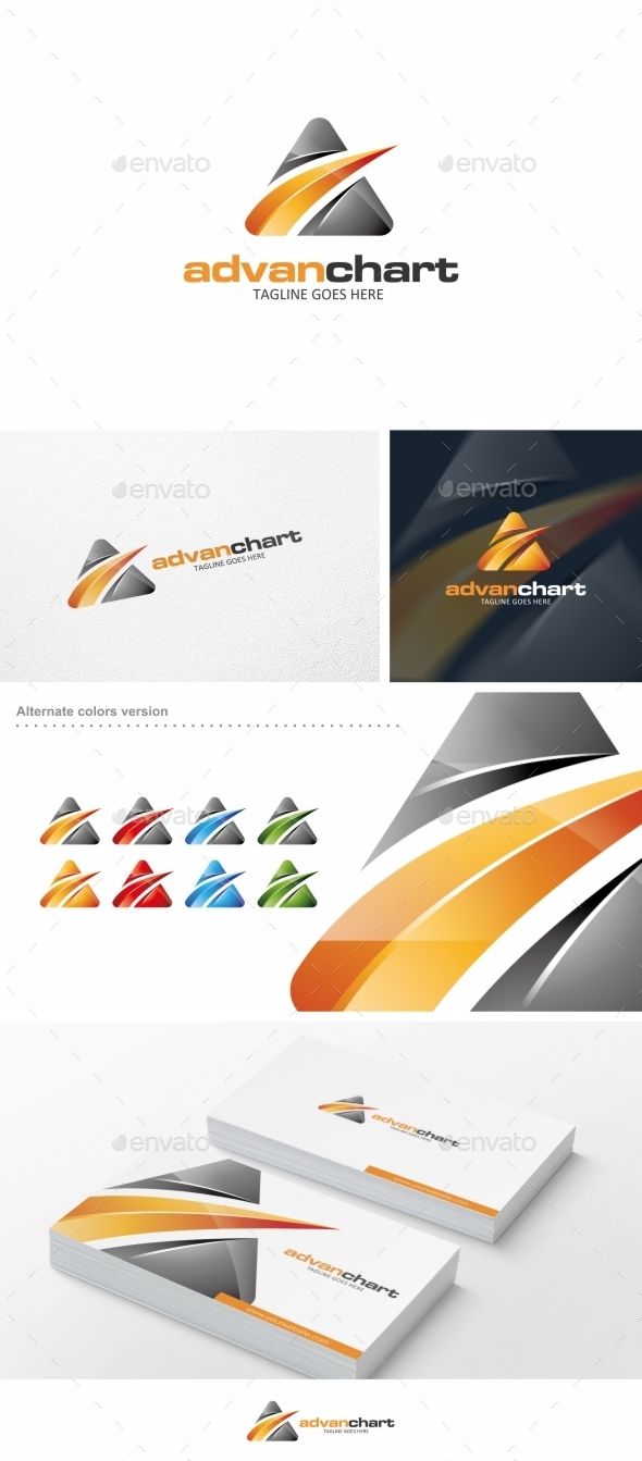 Advan Chart - Logo Template - Abstract Logo Templates