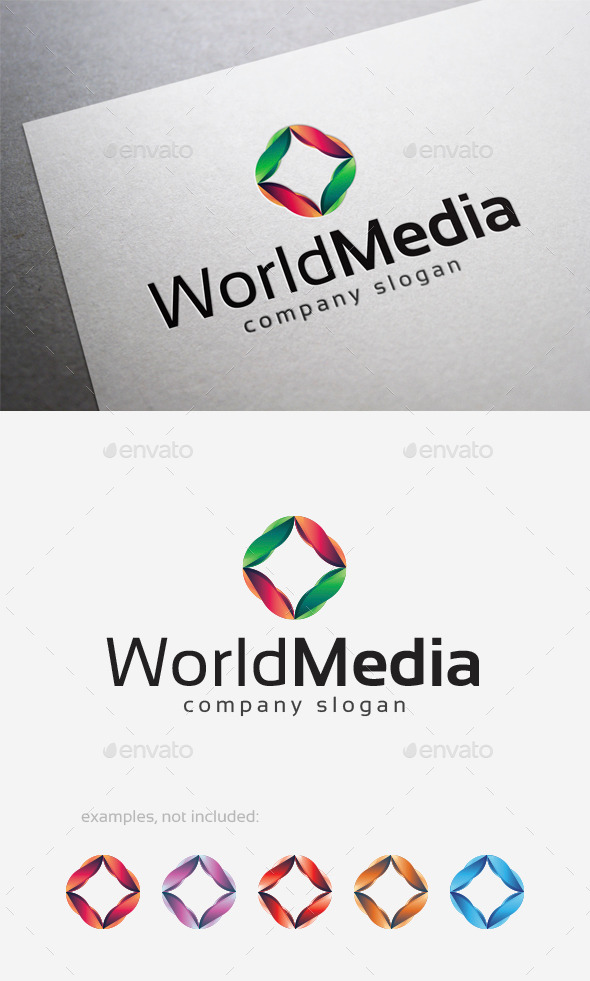 World Media Logo - Abstract Logo Templates