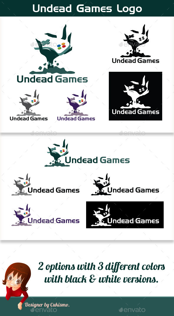 Undead Games Logo - Vector Abstract