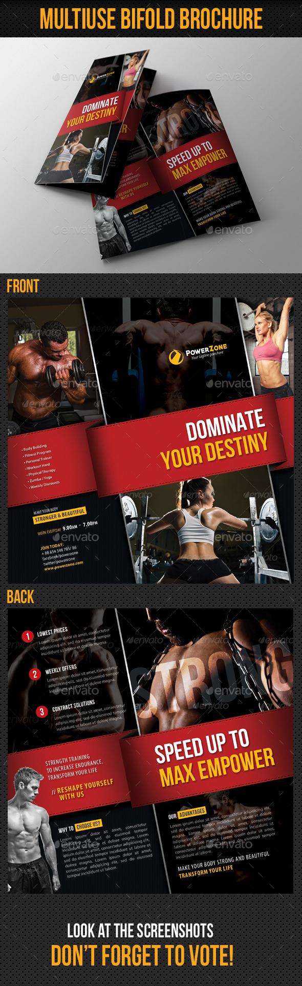 Sport Activity Bifold Brochure - Corporate Brochures