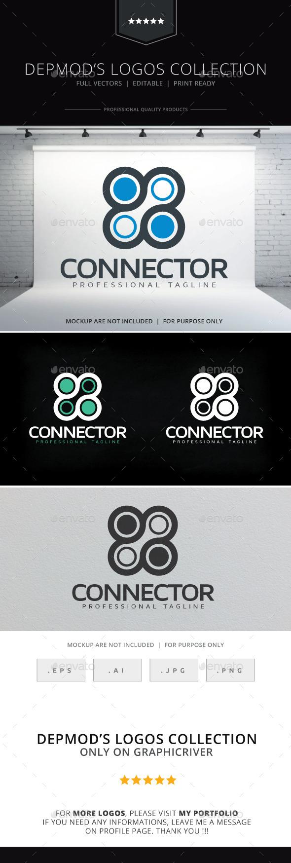 Connector Logo - Vector Abstract