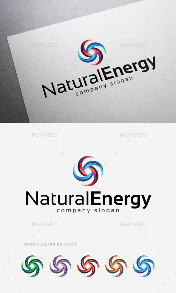 Natural Energy Logo - Abstract Logo Templates