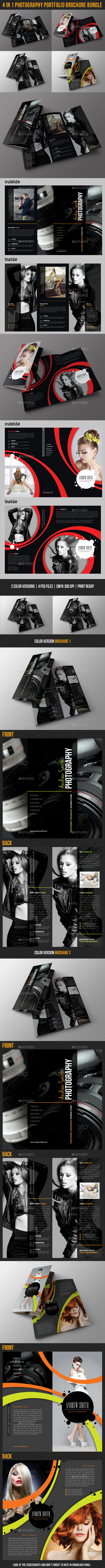 4 in 1 Photography Portfolio Brochure Bundle 02 - Portfolio Brochures