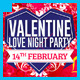 Valentine Love Night Party Flyer - GraphicRiver Item for Sale