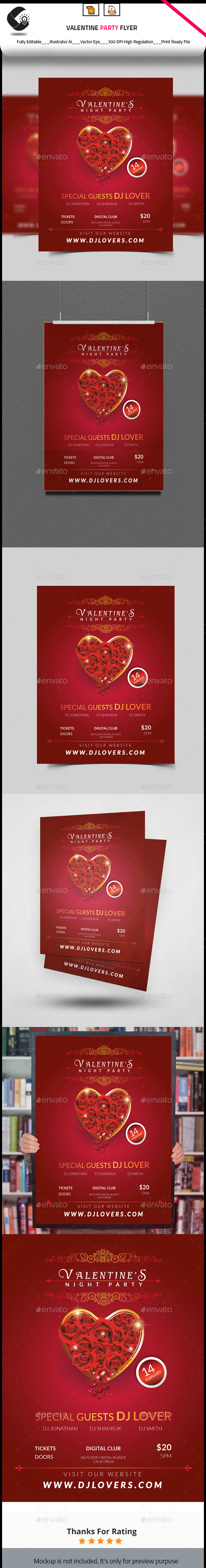 Valentine Special Party Flyer - Clubs & Parties Events