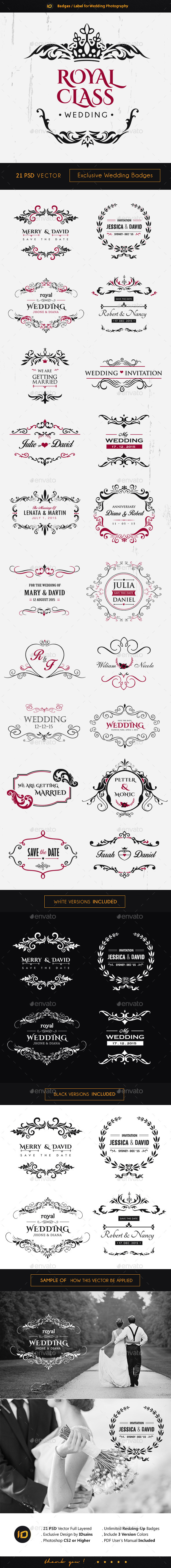 21 Premium Wedding Badges - Badges & Stickers Web Elements
