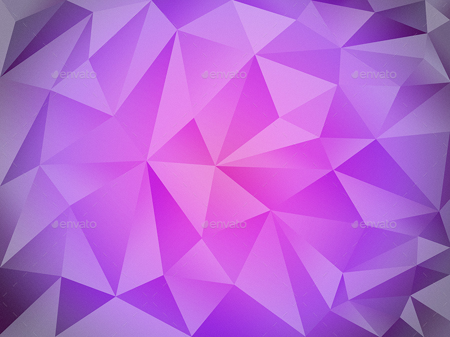 Purple Polygonal Abstract Background: 60 Polygon Backgrounds Bundle By Groovydes