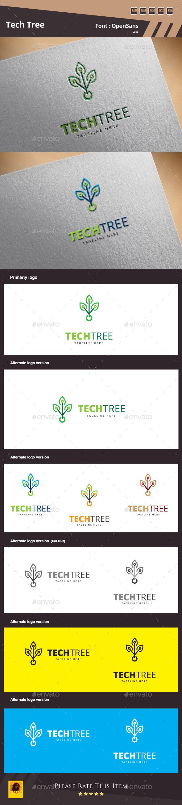 Tech Tree Logo Template - Objects Logo Templates