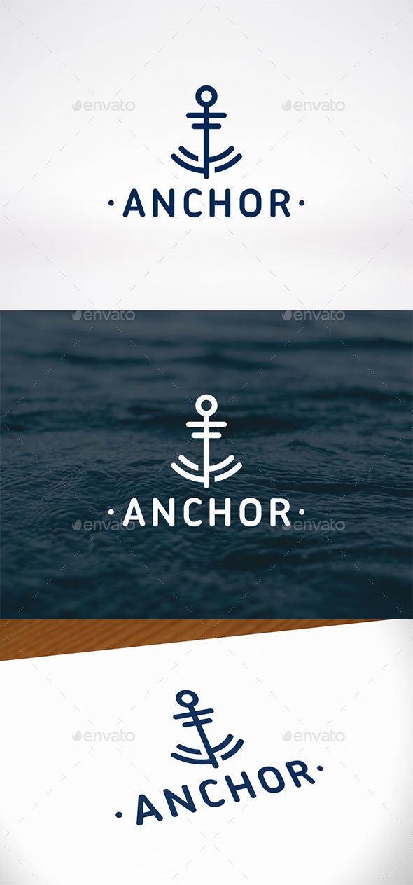 Anchor Mark Logo Template - Abstract Logo Templates