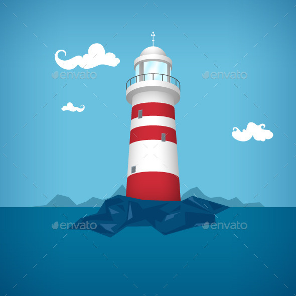 Lighthouse in the Sea - Buildings Objects