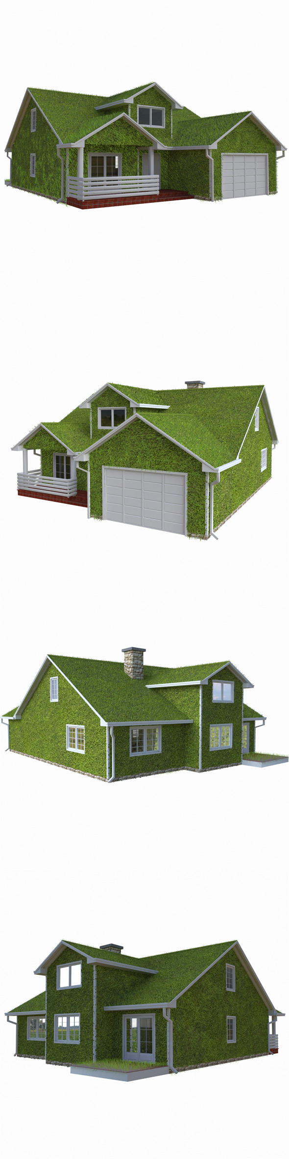 Grass House Eco - 3DOcean Item for Sale