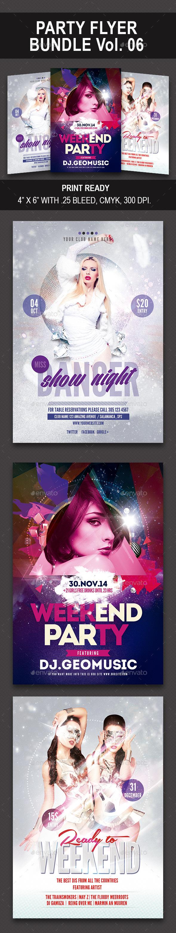 Party Flyer Bundle 06 - Events Flyers