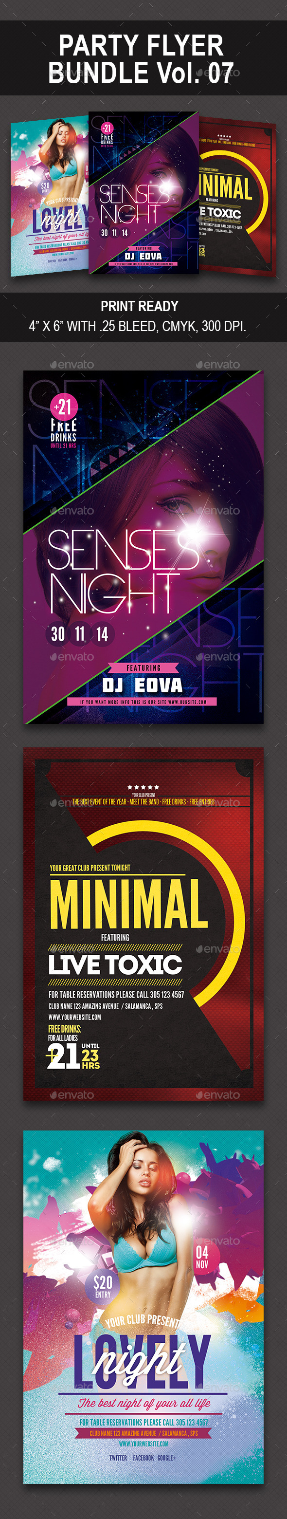 Party Flyer Bundle 07 - Events Flyers