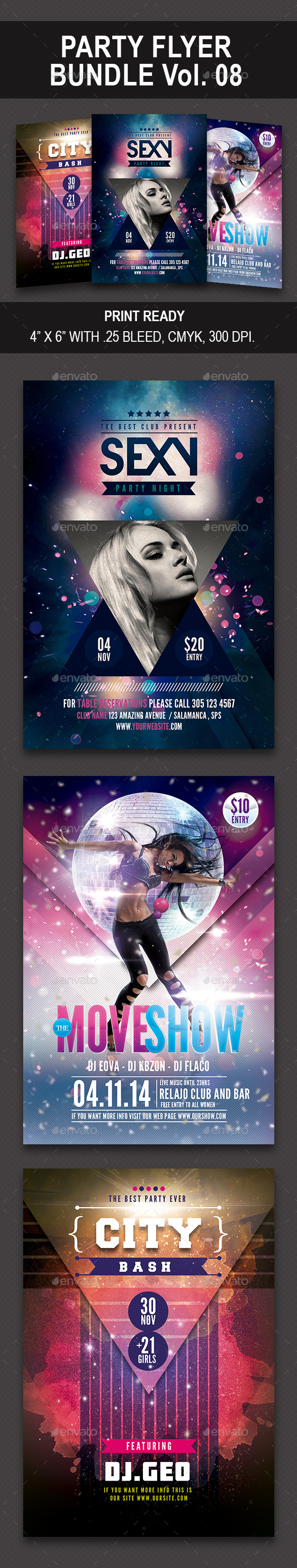 Party Flyer Bundle 08 - Events Flyers
