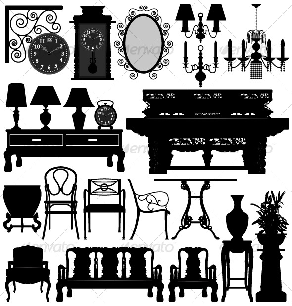 Antique Old Furniture Home House - Man-made Objects Objects