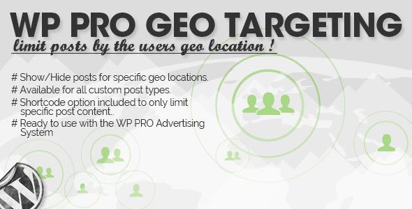 WP Pro Geo Targeting