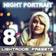 8 Night Portrait Lightroom Presets - GraphicRiver Item for Sale
