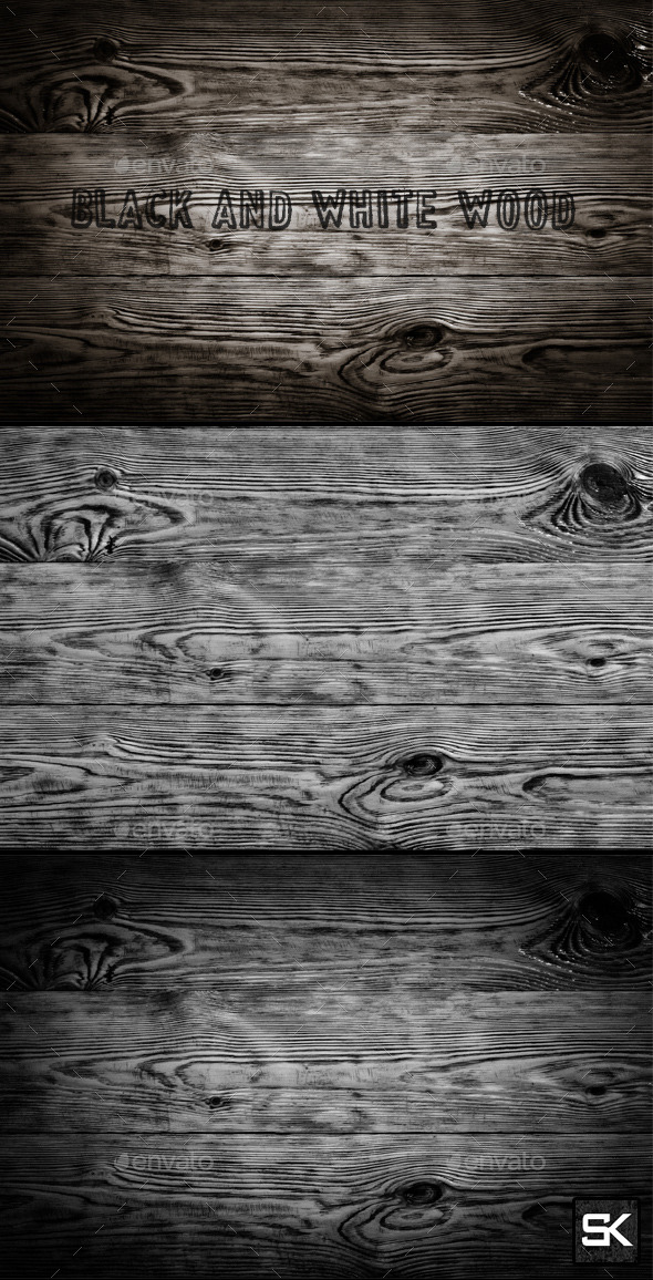 Black And White Wood - Wood Textures
