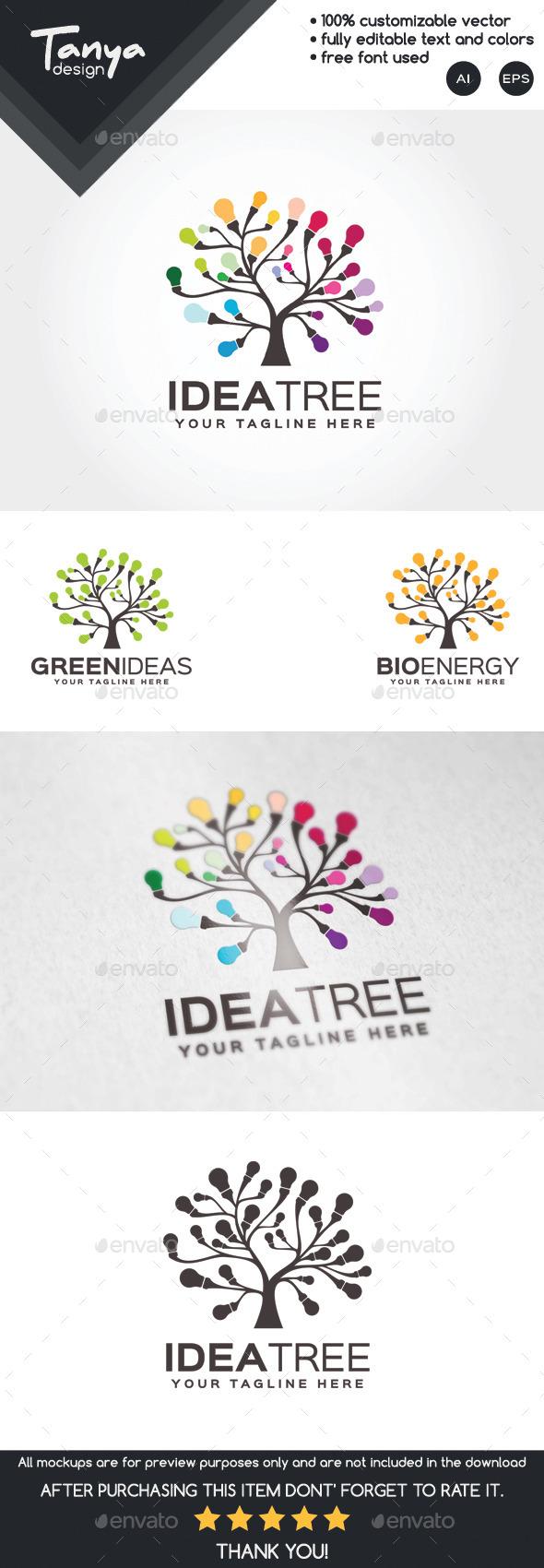 Idea Tree Logo Template - Nature Logo Templates
