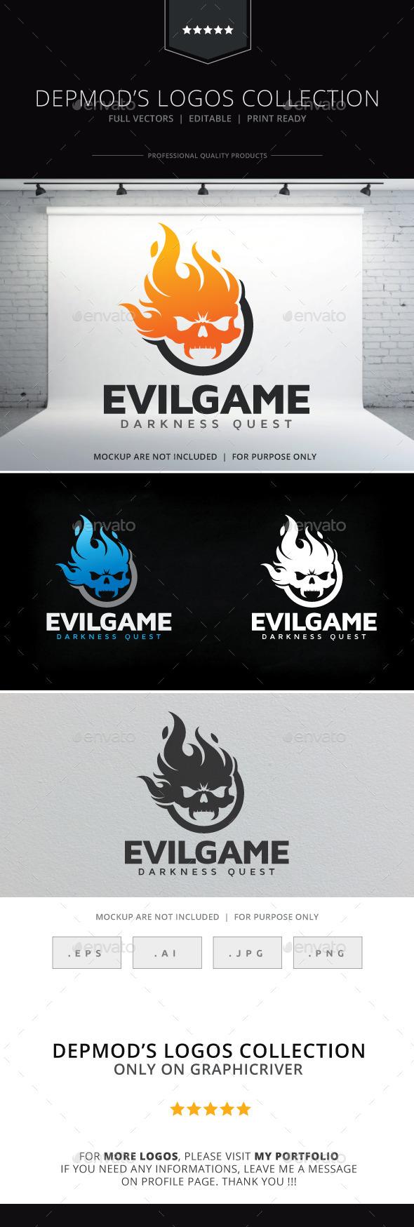 Evil Game Logo - Symbols Logo Templates