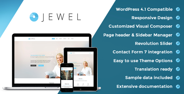 Jewel – Responsive Business WordPress Theme