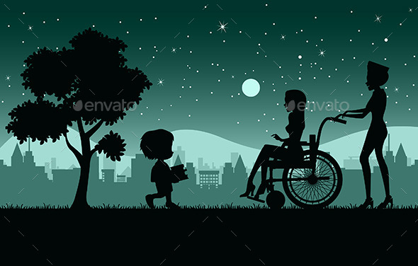 Wheelchair - People Characters
