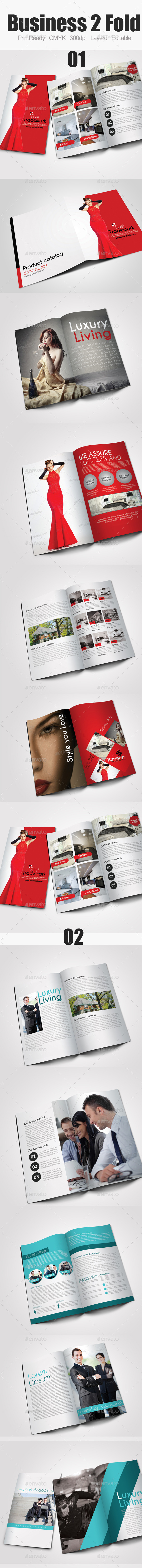 Bi Fold Business Brochure Bundle - Corporate Brochures