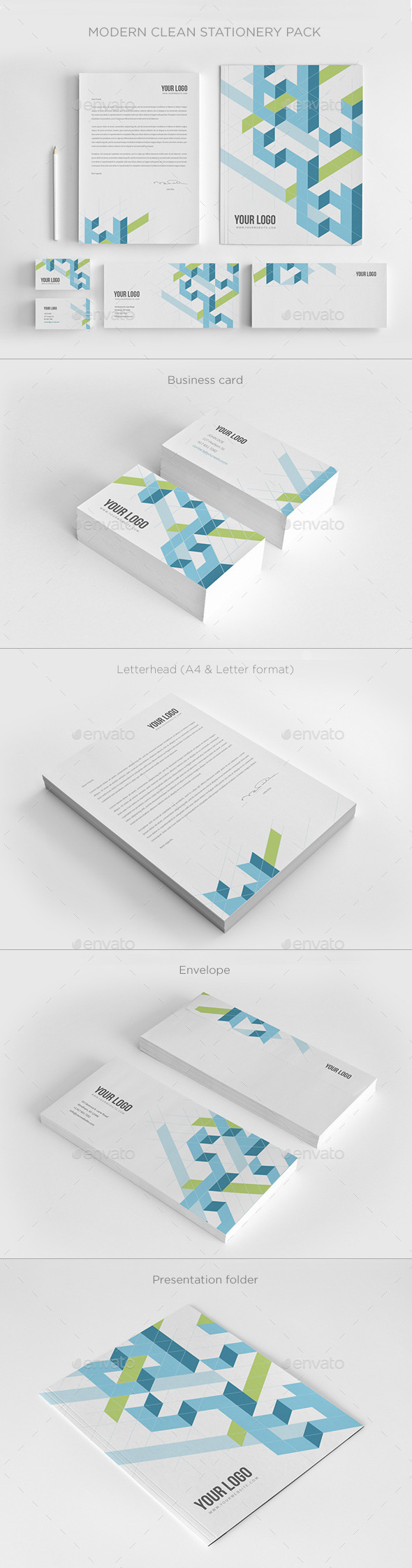Modern Clean Stationery - Stationery Print Templates