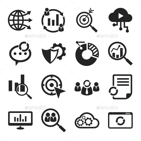 Seo Icons Black - Business Icons