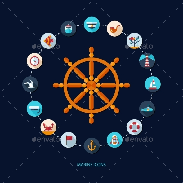 Nautical Icons - Travel Conceptual