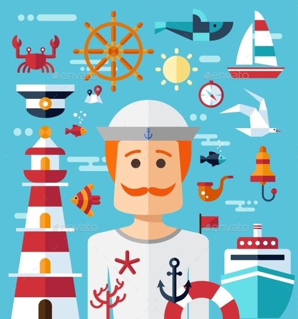 Nautical Illustration - Travel Conceptual