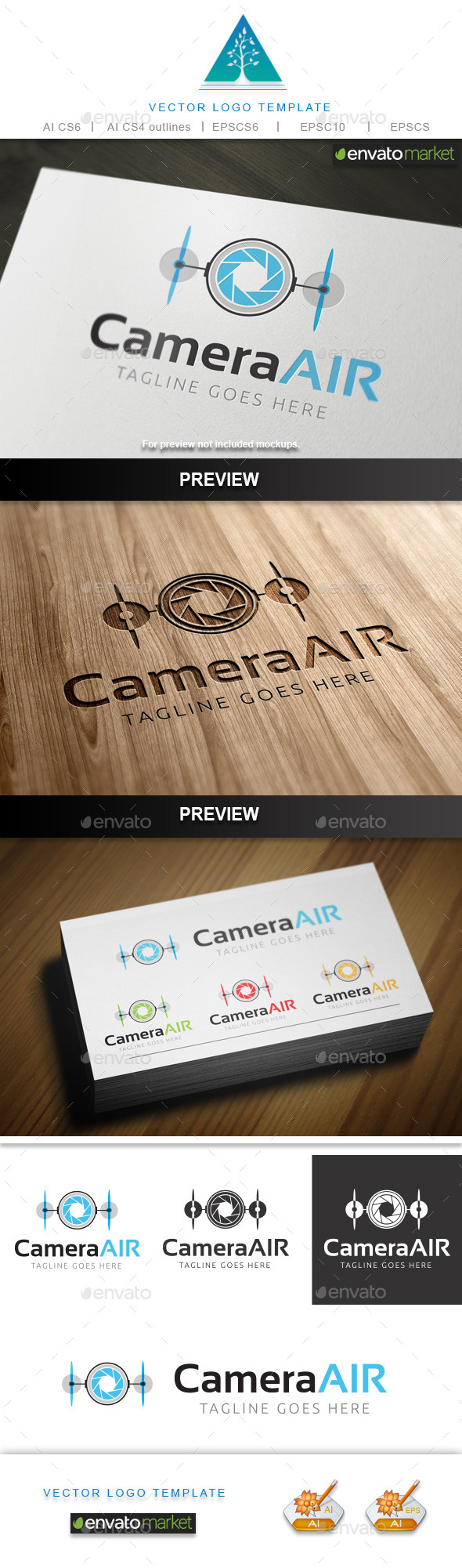 Camera Air Logo - Objects Logo Templates