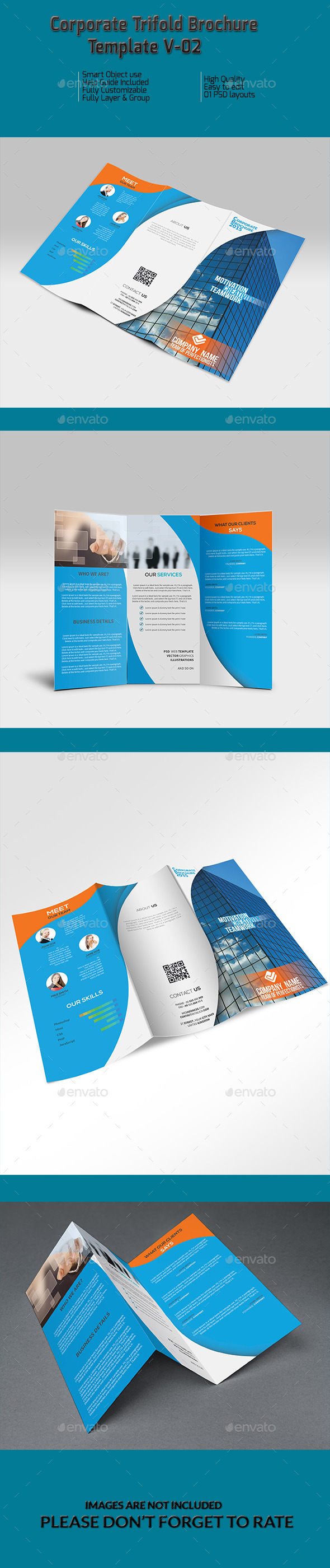 Corporate Trifold Brochure Template V-02 - Corporate Brochures