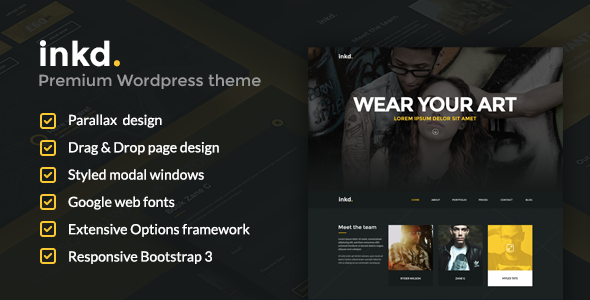 Artist WordPress Themes from ThemeForest