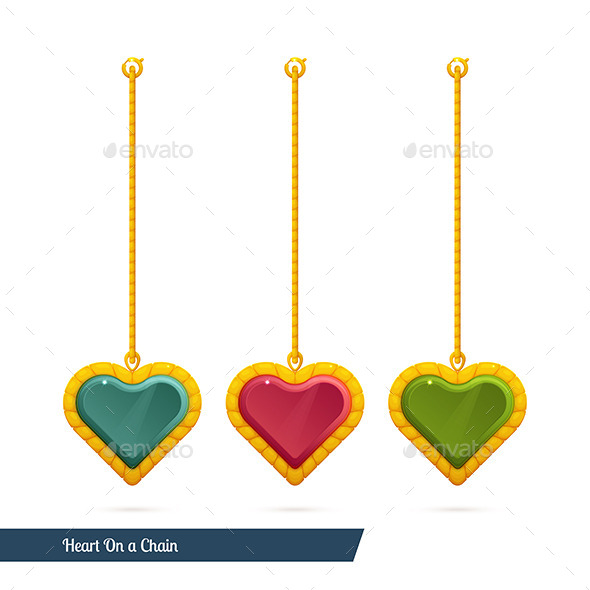 Heart On a Chain - Objects Vectors