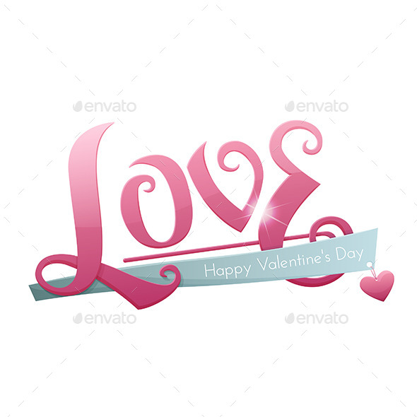 Large Inscription Love - Decorative Vectors